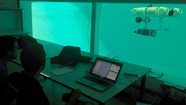 SITMA staff attend a training course in Girona on piloting the G500 AUV